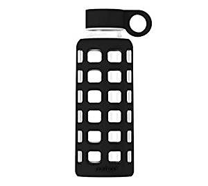 purifyou Premium Glass Water Bottle with Silicone Sleeve