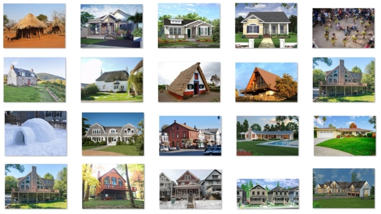 Characteristics of different types of dwellings